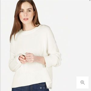 Everlane Crewneck Soft Cotton Sweater - White Sz S